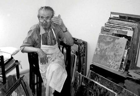 Vasile Varga la Lipova în atelier