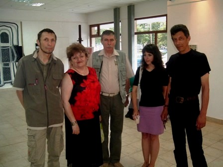 Colegii profesori (Grigore Roibu, Adriana Popa, Fazakas Tiberiu, Ana Iancu, Valentin Lădar)