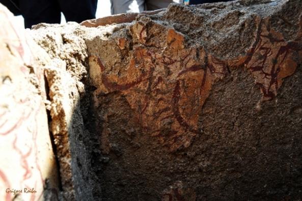 Samizegetusa Ulpia Traiana - Fragment de frescă (Foto Grigore Roibu)