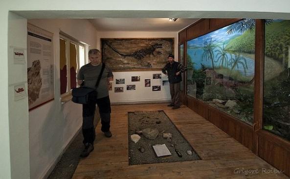 Muzeul dinozaurilor pitici din Sântpetru (Foto Grigore Roibu)