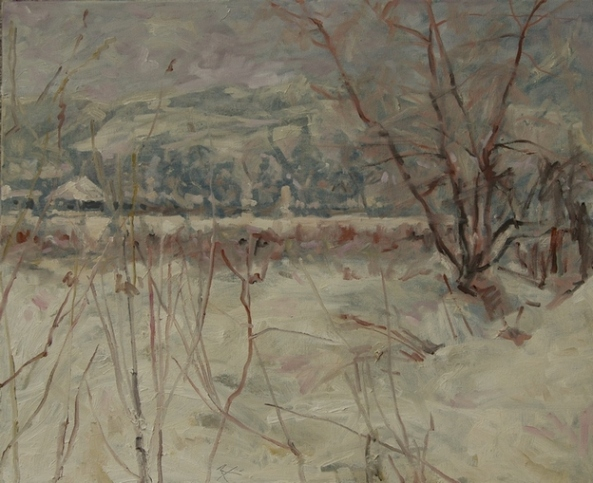 A Roseti - peisaj de iarna