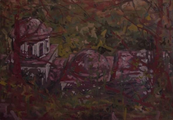 Athos - Biserica din crang III - Schitul Lacu 50x75 cm up