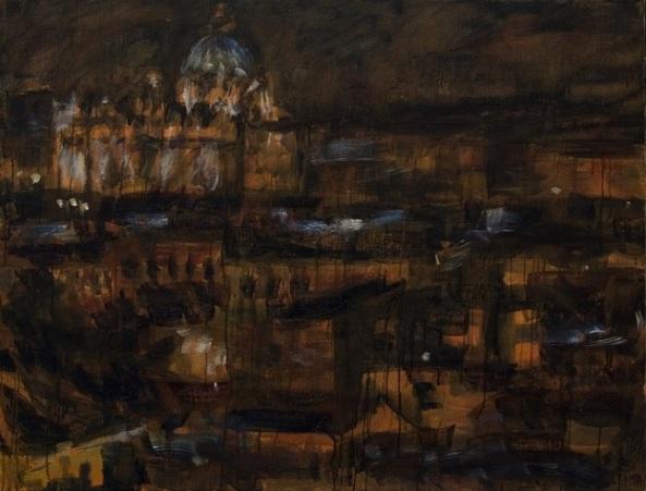 21. ROMA corpo urbano, olio su tela, 100-133cm, 2011 n