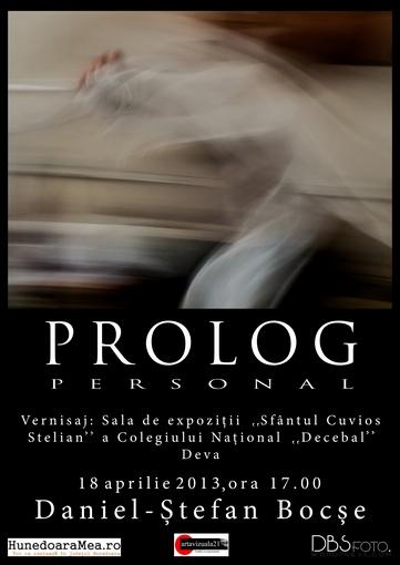 Ştefan-Daniel Bocşe- Prolog Personal -afis