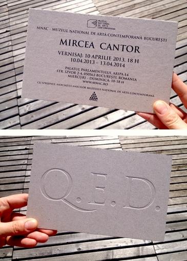 Mircea Cantor - invitatie