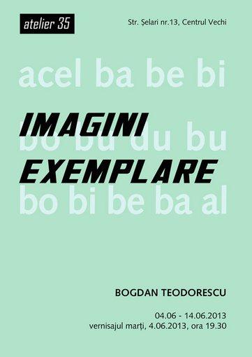 Bogdan Teodorescu – Imagini exemplare