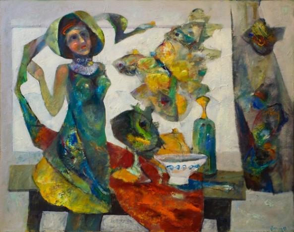 Petru Damir -Lady.. Inocenta clipei_100x80