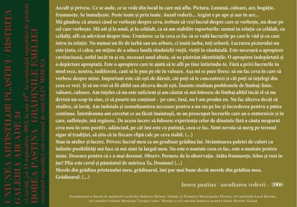 Horea Pastina - Gradinile Emiliei 2