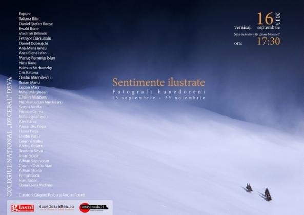 Sentimente ilustrate Fotografi hunedoreni -afis-artavizuala21