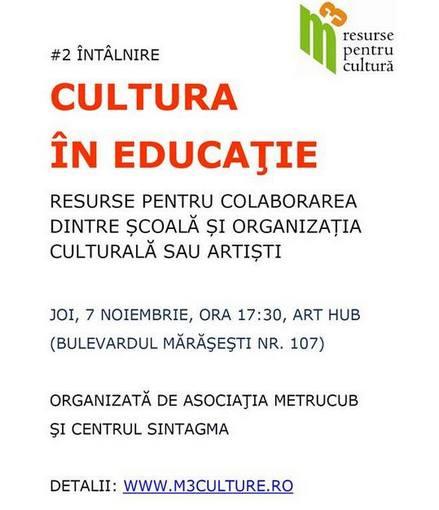 Cultura in educatie