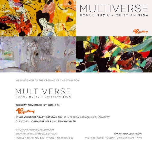 Invitation Multiverse exhibition