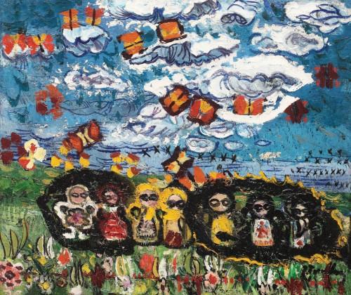 Ion Țuculescu - Păpușile, norul și fluturii