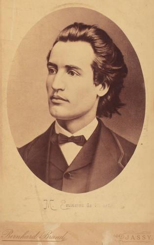 Bernhard Brand - Mihai Eminescu, portret la 19 ani