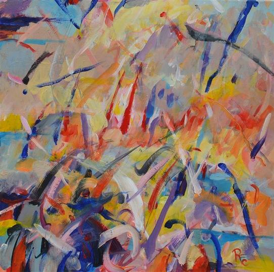 Cristian Ruţă-Fulger| Inspiraţii de toamnă (2013, acrilice/pânză, 70x70cm)