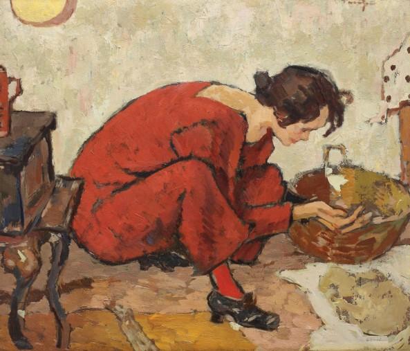 Nicolae Tonitza - Pregătiri de masă (Interior IV)