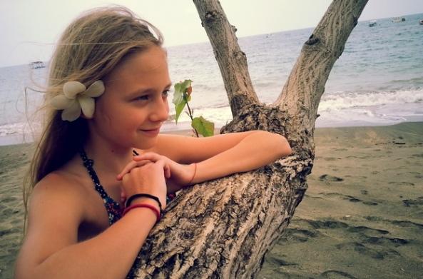 Leia Tarnovețchi în Bali