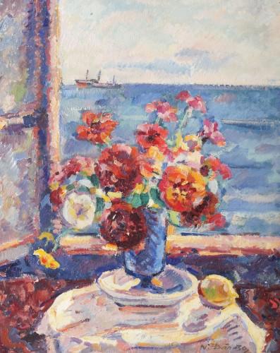 Nicolae Dărăscu - Flori la fereastră