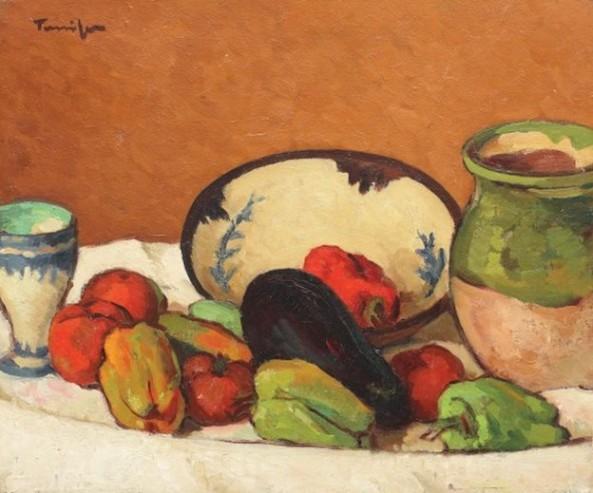 Nicolae Tonitza - Coș cu legume