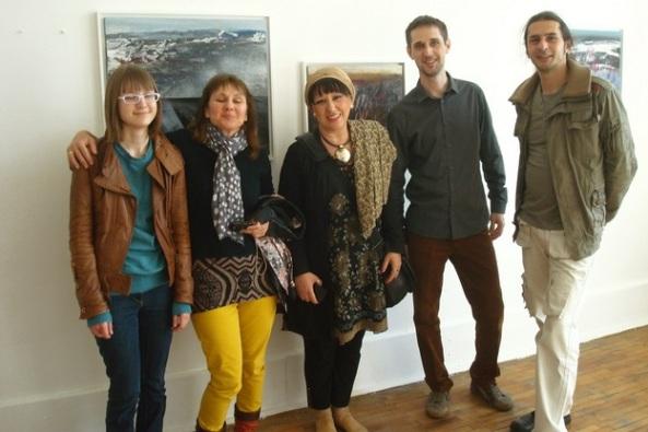 1 Vernisaj Costin Brateanu-Galeria Logart-Centru Foto Elisabeth Ochsenfeld, Sorin Scurtulescu, Costin Brateanu n