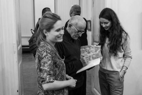 Cristina Olteanu și Floarea Codrea (echipa IMA) împreună cu Corneliu Brudașcu