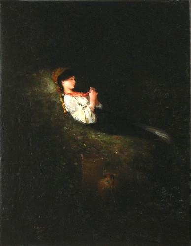 Nicolae Grigorescu - Țărăncuță odihnindu-se