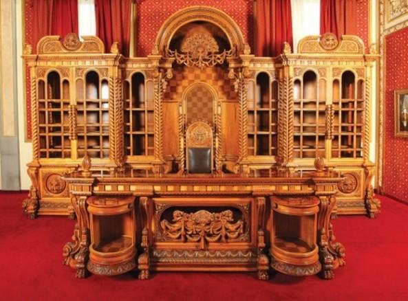 Garnitură de mobilier de birou, Nicolae Ceaușescu
