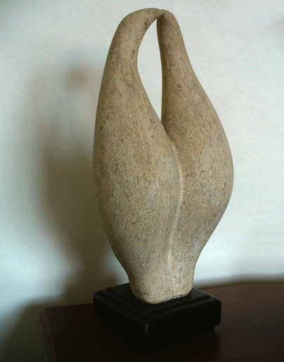 Doina Elas - Păsări (piatră cioplită 43x25cm)