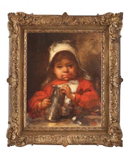 Nicolae Grigorescu- Fetița în roșu