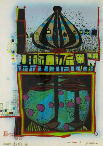 Friedensreich Hundertwasser - Homo Humus come va 10 001 nights