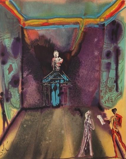 Salvador Dalí - Cecile Receives Germeuil's Letter (The Marquis de Sade Portfolio)