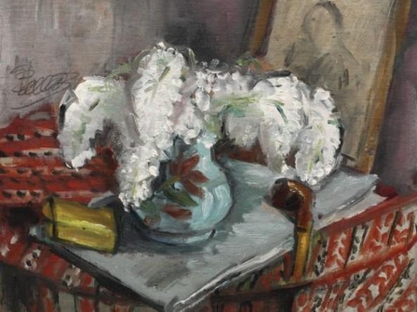 Theodor Pallady - Natură statică cu liliac și pipă