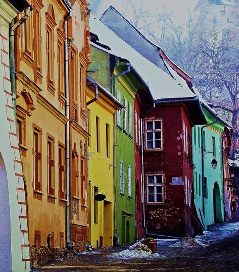 """Locul I - Alexandra Lungeanu - """"Culorile Sigișoarei"""" (Colegiul Național Decebal)"""