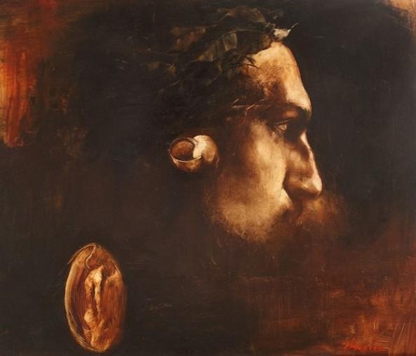 Adrian Ghenie - Self-portrait with Laurels