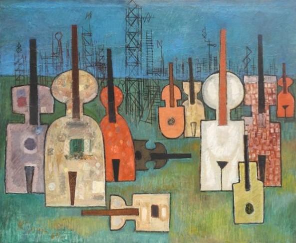 Câmp cu instrumente muzicale, Alexandru Tipoia