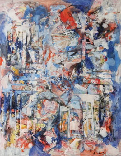 Alexandru Istrati - Composition en bleu