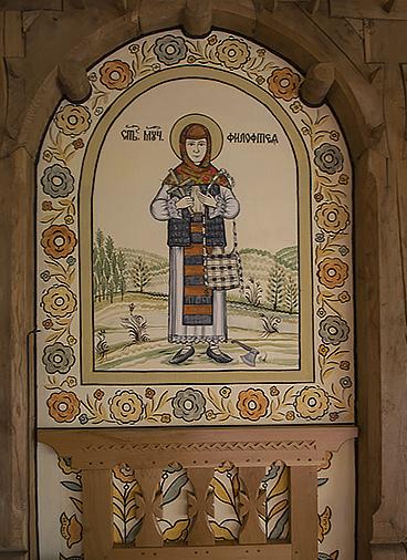 Pictură din Biserica de la Bârsana.