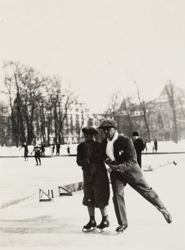 King Mihai I on the Ice Skating Ring