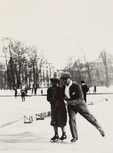 King Mihai I on the Ice Skating Ring