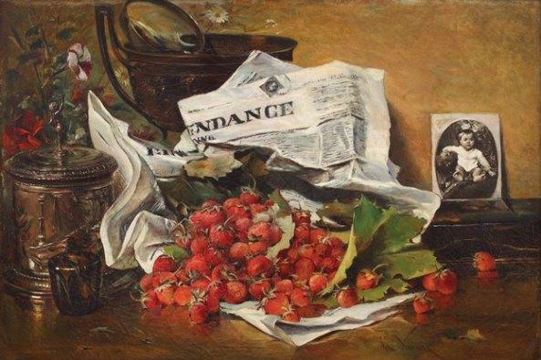 Theodor Aman - Natură statică cu căpșuni