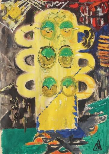 Ion Țuculescu - Clown en jaune