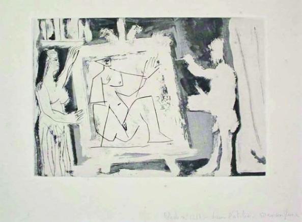 Pablo Picasso - Dans l'atelier, 1965