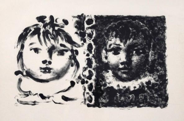 Pablo Picasso -Paloma et Claude, 1950
