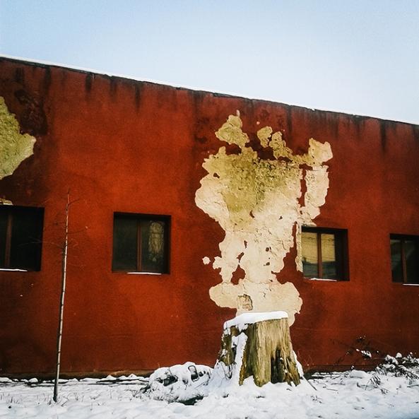 Ciprian Hord Perete distrus al unei foste fabrici textile. Arad, Romania, 2014.